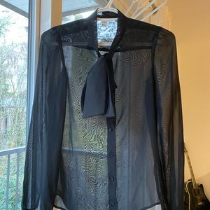 Sheer black blouse from American apparel